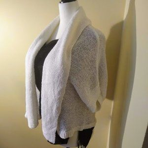 NWOT CK White Knit Cardigan with Shawl Collar